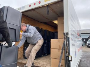 Loading of R&F trucks for delivery to hospital